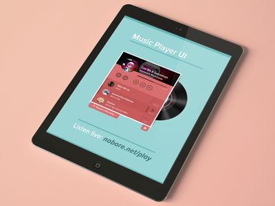 Music Player (html5) nobore.net nobore gauravbaheti gbaheti bored music player audio html5 front end