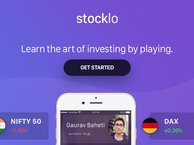 StockLo Splash investing stock landing game website design page splash site stocklo