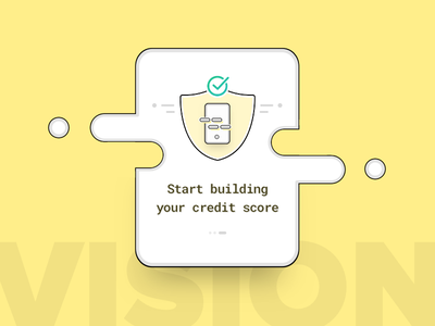 RedCarpet Credit Scoring safe secure redcarpet illustration walkthrough icon line visual splash ui design