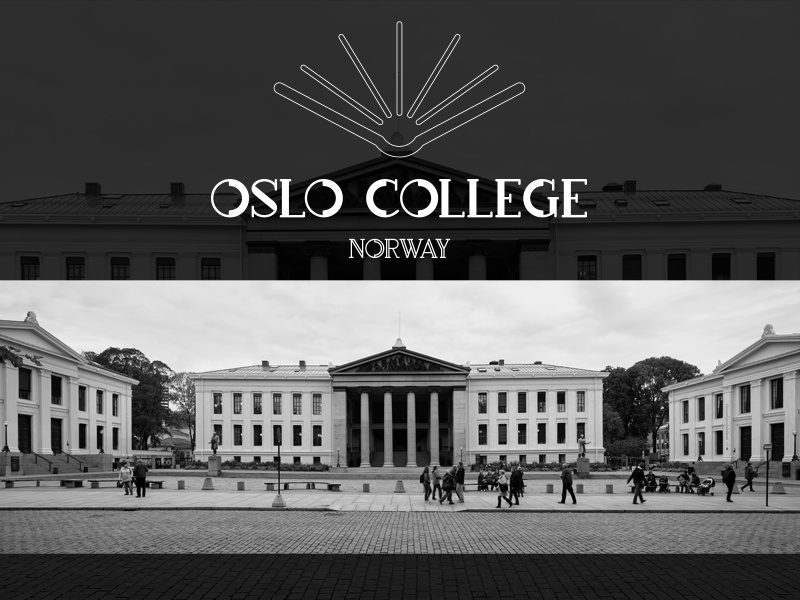 College/University logo norway oslocollege brand logodesign logo identity universitylogo collegelogo dailylogochallenge dailylogo