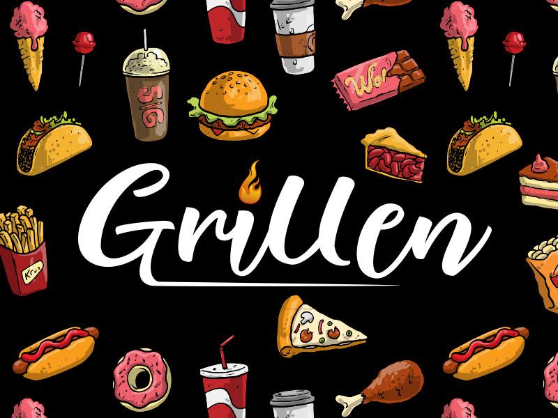 Food Truck logo junkfood grillenlogo grillen brand logodesign logo identity foodtrucklogo foodtruck dailylogochallenge dailylogo