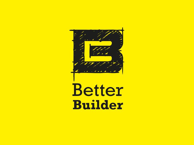 Logo 45 Dribble betterbuilderlogo betterbuilder brand logodesign logo identity constructioncompany construction dailylogochallenge dailylogo