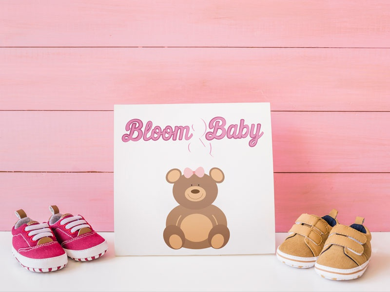 Baby Apparel Brand logo bloombabylogo babyapparelbrandlogo brand logodesign logo identity babyapparelbrand bloombaby dailylogochallenge dailylogo
