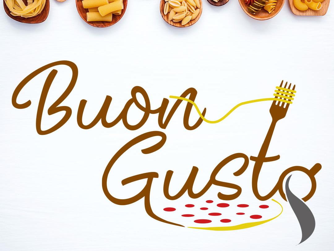 BuonGusto logo illustration identity brand 9co norway design logodesign logo