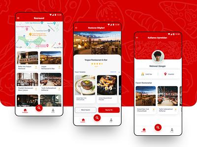 Restaurant Reservation App card reservation restaurant mobile ui mobile ui design mobile application mobile design ux mobile app creative ui mobile