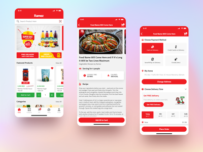 Food Delivery homepage cart card food order delivery dailyui mobile design mobile app creative ui