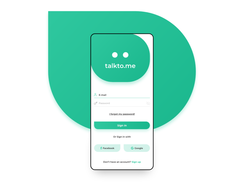 Chat App Login by Hakan Kızılkan on Dribbble