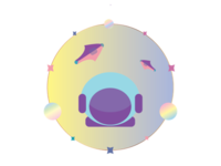 Pastel coloured space!