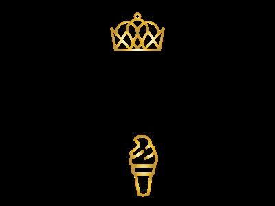 Gelato Kings graphic design logo design illustration vector logo ice cream gelato gold