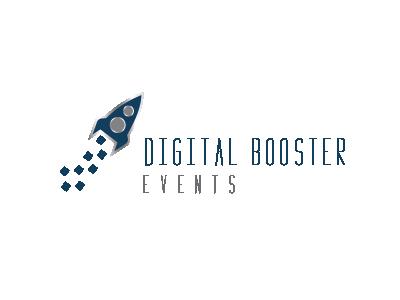 Digital Booster Logo graphic design vector simple clean logo design logo rocket digital