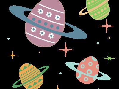 Happy Easter! graphic design illustration universe space easter egg easter
