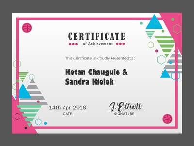 New Players 🙌🏼🙌🏼🙌🏼 dribbble certificate congratulations dribbblers new players