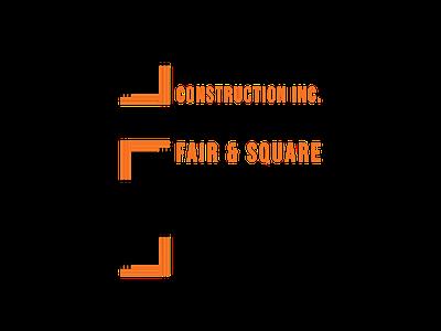 Fair & Square Logo vector graphic design minimal clean logo