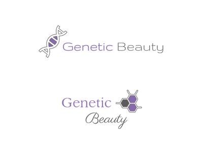Logo design for Genetic Beauty vector graphic design logo design logo beauty genetics dna