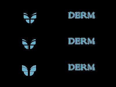 RejuvaDERM logo design vector adobe illustrator graphic design butterfly logo design logo