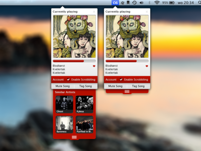 Last.fm Widget (work in progress)