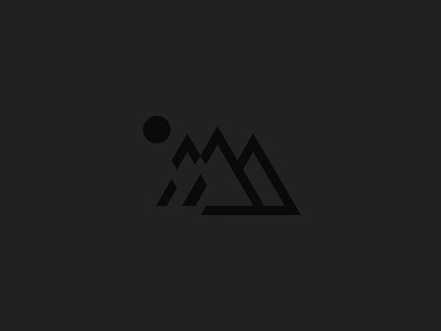 Mtn2 outdoors black minimalism minimal wilderness mountain