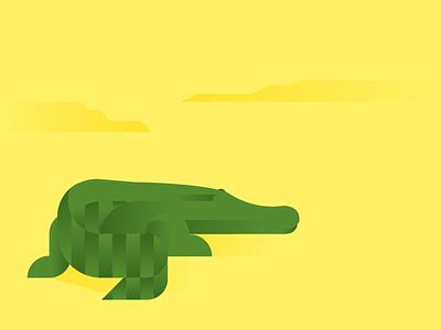 Gator wildlife wetlands florida crocodile gator vector illustraion everglades alligator