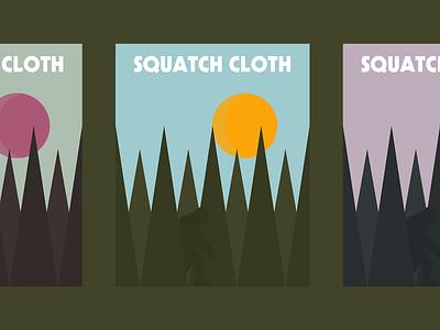 Squatch Cloth Poster illustration tree posterdesign poster squatchcloth squatch wilderness bigfoot sasquatch