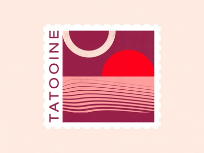 Tatooine Stamp — Dribbble Weekly Warm-Up