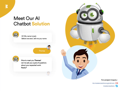Chatbot Solution Animation product ui branding robot chatting modern creative chatbots chatbox chatbot animation 2d animation design interface design