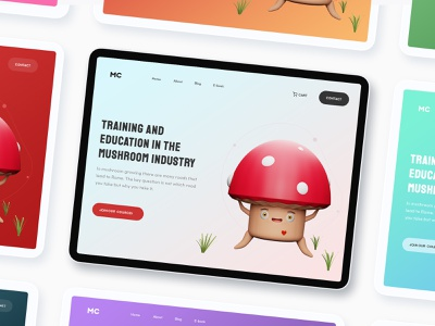 Mushroom industry Website Landing page growing cultivation rising industry usa trend 2021 trend learning website food mushroom website education training mushroom industry mushrooms mushroom