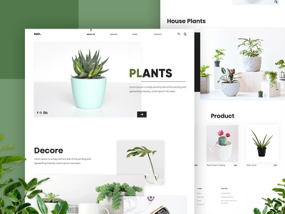 PLANTS: House Indoor Growing green indoor plant based plants product landing page gradients website ui modern creative interface design master creationz