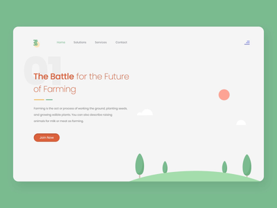 Farming Website website concept aftereffects introduction webpagedesign dailyui dairy farming vegetables farming dribbble landing page app colorful website modern creative interface design master creationz