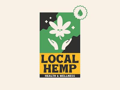 Fictional CBD Brand leaf weed wellness health oil cbd hemp cannabis marijuana design logo banner