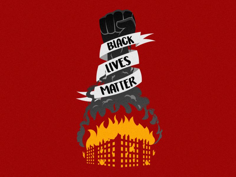 Black Lives Matter illustration dribbble vector artwork vector art vector design black