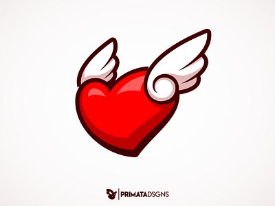 Dia dos Namorados illustration vector artwork sportlogo vector art passion love logo vector design heart logo cupid wings heart