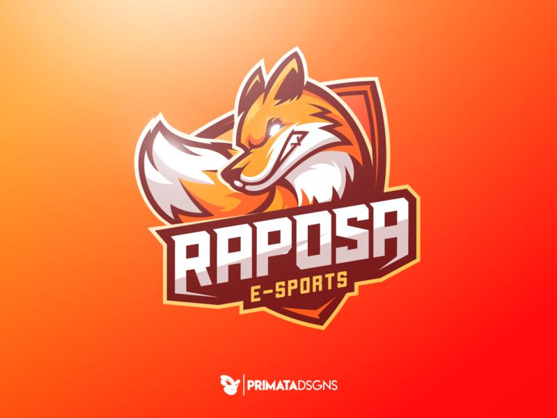 Raposa E-sports esports illustration sportlogo vector art fox illustration esport e-sport vector logo design fox logo foxes raposa fox