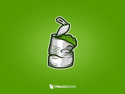Billy Johnson weed marijuana logo marijuana design vector artwork vector logo dribbble illustration metal tin lata