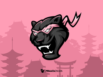 Black Panther dribbble vector artwork sportlogo vector ninja mascot logo design ninjas panthers design logo illustration mascot ninja black panther panther