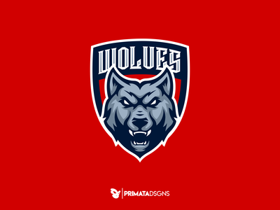 Wolves Shield gaming animal esports sport logo illustration sportlogo dribbble vector art wolf logo wolf shield
