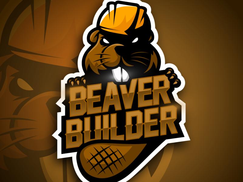 Beaver Builder logo design castor intermed sport logo typography vector vector artwork vector art logotype sport sportlogo esports esport design brand logo beavers beaver