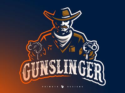 Gunslinger Sport Logo illustration sport logo dribbble esport vector artwork vector art sportlogo vector esports brand design e-sports e-sport logo old west wildwest west bandit cowboy gunslinger