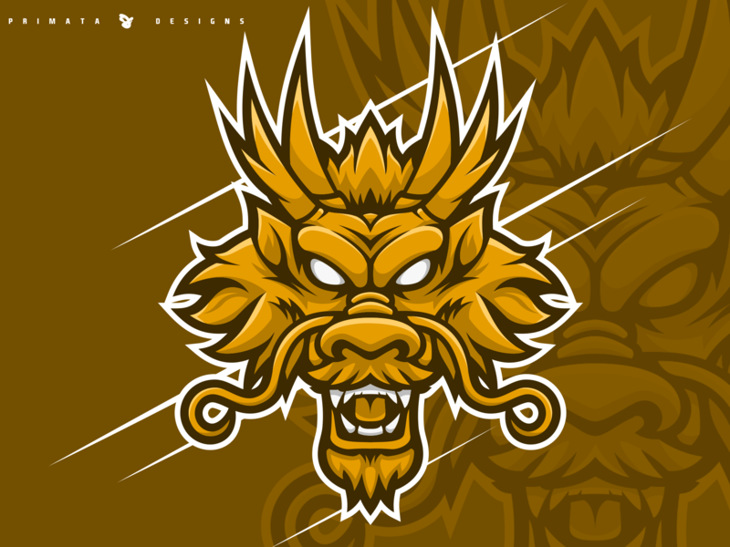 Ryujin Dragon illustration sport logo esport dribbble vector artwork vector art sportlogo vector esports brand logo design ryujin japanese dragon