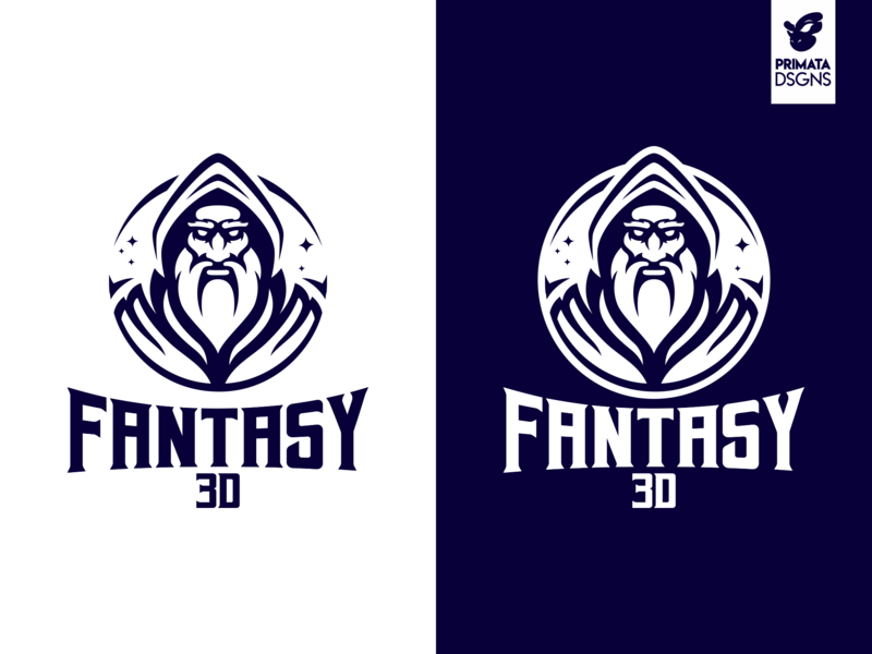 Fantasy 3D Monocromático