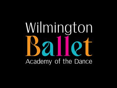 Wilmington Ballet, Academy of the Dance branding logo design logo