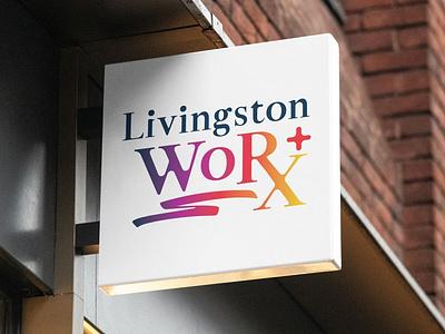 Livingston Wordmark branding logo design logo