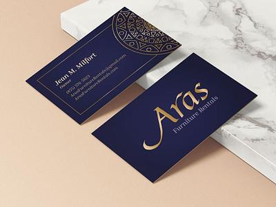 Elegant Brand for Furniture Rental Company card web design logo design logo