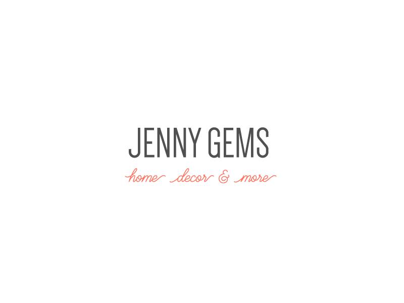 Jenny Gems Logo text treatment logo design