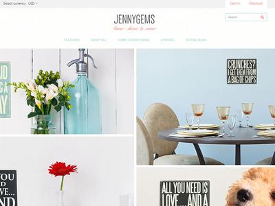 JennyGems Website Screenshot ecommerce web design
