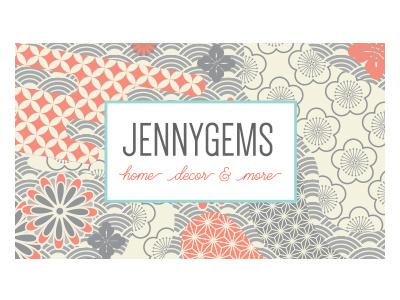 JennyGems Business Card, Back design card business
