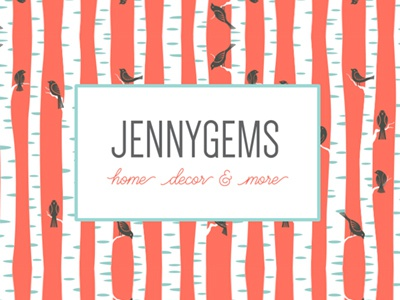Jennygems Twitter background branding media social