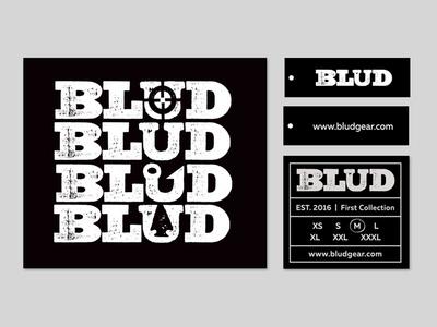 Blud Branding Dribbble hanging tag heat stamp logo branding
