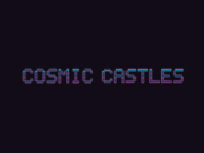 Cosmic Castles Logo pixel logo block logo retro logo