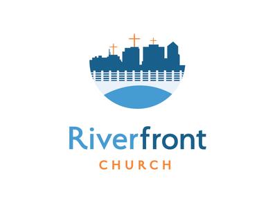 Riverfront Church church logo design