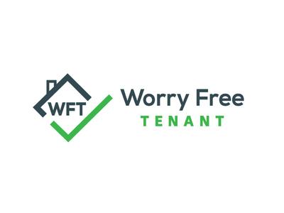 Worry Free Tentant design logo